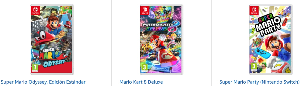 3X2 en selección de juegos Mario Nintendo Switch