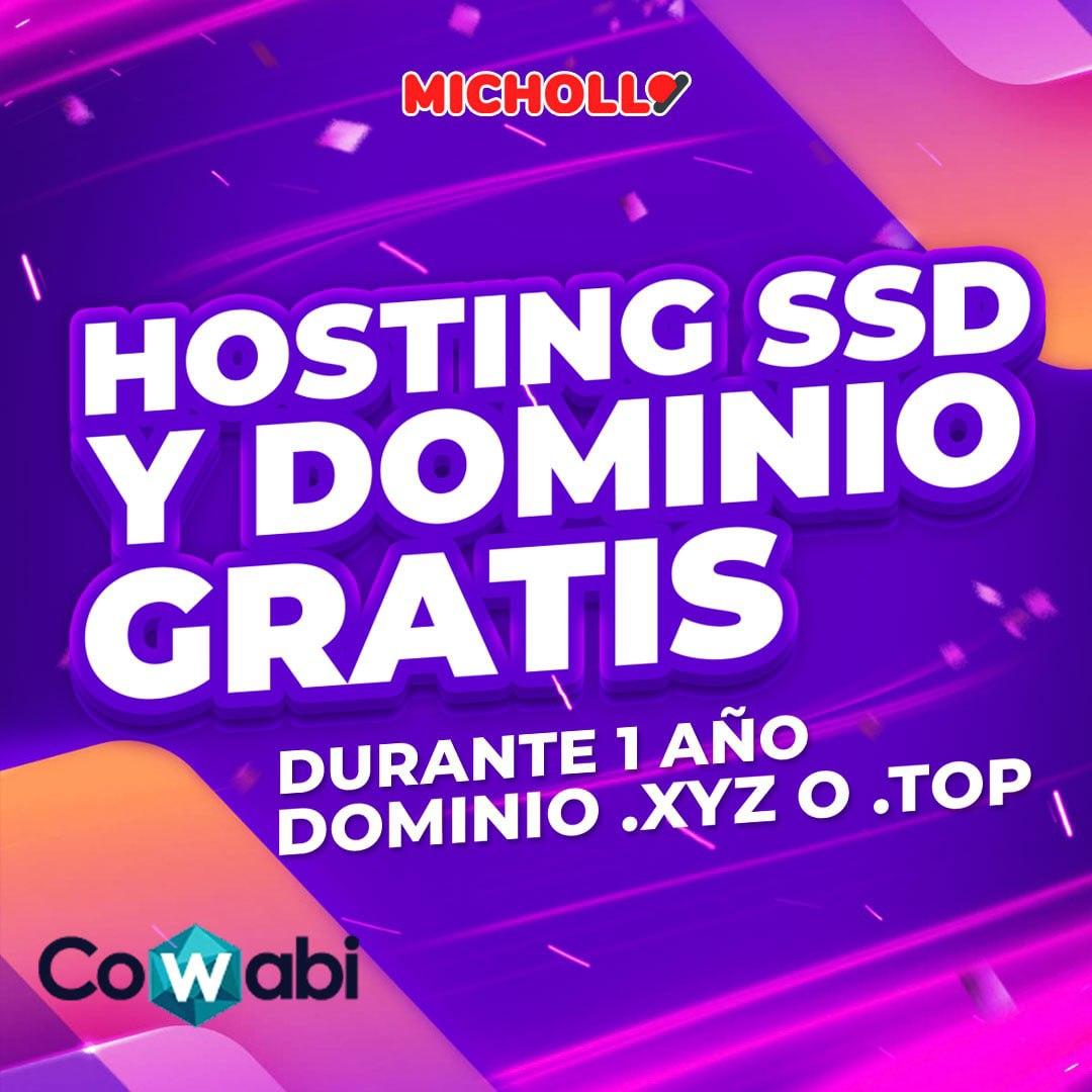 Dominio .XYZ o .TOP  + Hosting SSD 5GB durante 1 año GRATIS