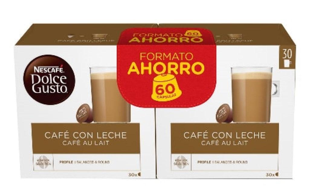 180 cápsulas Nescafé Dolce Gusto Café con Leche