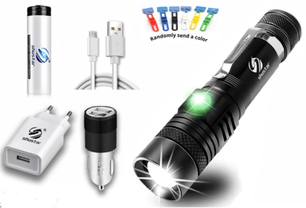 Linterna LED XP-L + Batería 18650 + Accesorios