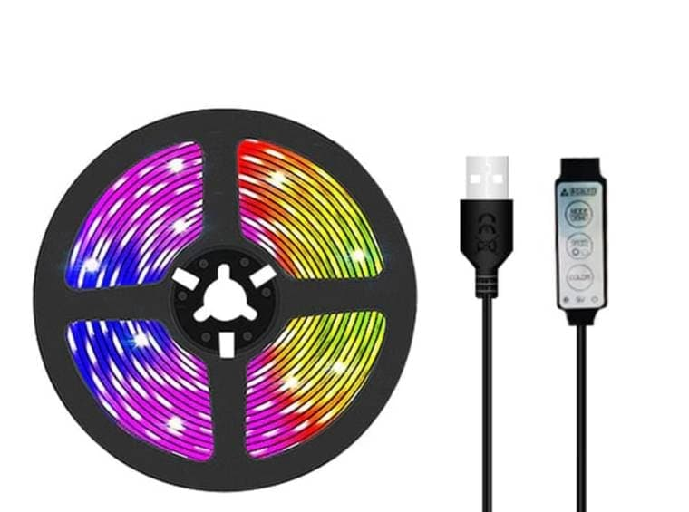 Tira de LED RGB USB 1M SMD 5050