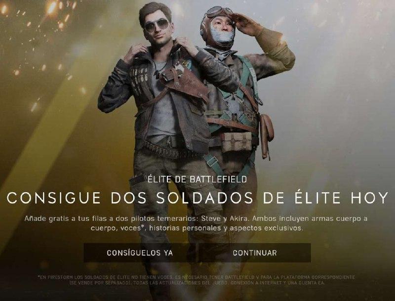 Skins gratis para Battlefield 5